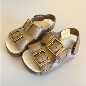 Gymboree Brown Buckle Baby Sandals Vegan Leather